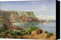 1861 Canvas Prints - Anstys Cove Canvas Print by John William Salter