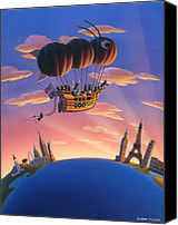 Ant Canvas Prints - Ant Airship  Canvas Print by Robin Moline
