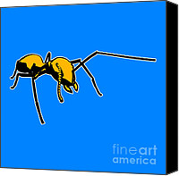 Ant Canvas Prints - Ant Graphic  Canvas Print by Pixel  Chimp