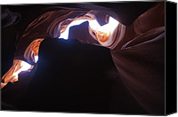 Floods Canvas Prints - Antelope Canyon Straight Up Canvas Print by Gregory Scott