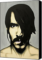 Portraits Canvas Prints - Anthony Kiedis Canvas Print by Antony Bagley