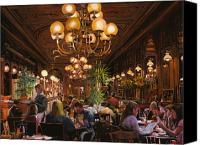 Pub Canvas Prints - Antica Brasserie Canvas Print by Guido Borelli