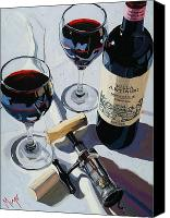 Cakebread Canvas Prints - Antinori Evening Canvas Print by Christopher Mize