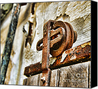 Rusty Door Canvas Prints - Antique - Door Rail - Rusty Canvas Print by Paul Ward