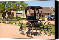 Old Country Roads Canvas Prints - Antique Carriage in Round Top Texas  Canvas Print by Connie Fox