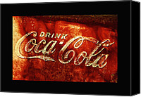 Soda Canvas Prints - Antique Coca-Cola Cooler II Canvas Print by Stephen Anderson