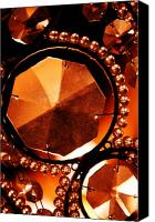 Chandelier Canvas Prints - Antique Glass Canvas Print by Jill Reger