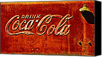 Soda Canvas Prints - Antique soda cooler 3 Canvas Print by Stephen Anderson