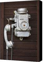Antique Telephone Canvas Prints - Antique Telephone Canvas Print by Jaak Nilson