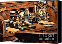 Typewriter Canvas Prints - Antique Typewriter Canvas Print by Paul Ward
