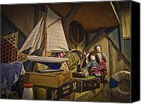 Featured Special Promotions - Antiques in Attic Canvas Print by Jiayin Ma