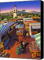 Shopping Canvas Prints - Ants at the Hollywood Farmers Market Canvas Print by Robin Moline