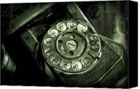 Antique Telephone Canvas Prints - Anyone Home Canvas Print by Barb Pearson