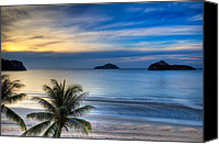 Thai Canvas Prints - Ao Manao Bay Canvas Print by Adrian Evans