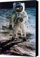 Edwin Canvas Prints - Apollo 11: Buzz Aldrin Canvas Print by Granger