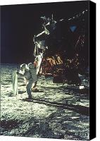 Edwin Canvas Prints - Apollo 11: Sun Sheet Canvas Print by Granger