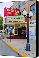Apollo Theater Canvas Prints - Apollo Theatre, Princeton, Illinois, Usa Canvas Print by Bruce Leighty