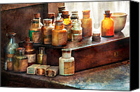 Away Canvas Prints - Apothecary - Chemical Ingredients  Canvas Print by Mike Savad