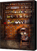 Bottles Canvas Prints - Apothecary - Just the usual selection Canvas Print by Mike Savad