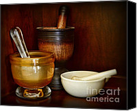 Stoneware Canvas Prints - Apothecary - Mortars and Pestles Canvas Print by Paul Ward