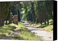Biking Canvas Prints - Appian Way in Rome Canvas Print by David Smith
