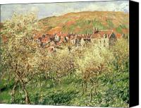 Impressionism Canvas Prints - Apple Trees in Blossom Canvas Print by Claude Monet