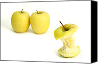 Eaten Canvas Prints - Apples Canvas Print by Gaspar Avila