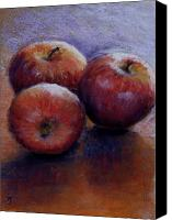 Apples Pastels Canvas Prints - Apples III Canvas Print by Susan Jenkins