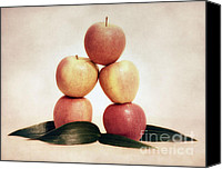 Red Apple Canvas Prints - Apples Canvas Print by Kristin Kreet