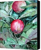 Snack Food Canvas Prints - Apples Canvas Print by Mindy Newman