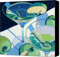 Wine Art Canvas Prints - Appletini Canvas Print by Christopher Mize