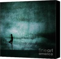 Cloud Digital Art Canvas Prints - Approaching Dark Canvas Print by Andrew Paranavitana
