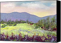 Landscapes Pastels Canvas Prints - Approaching Home Canvas Print by David Patterson