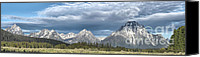 Wide Canvas Prints - Approaching Storm in the Tetons Canvas Print by Sandra Bronstein