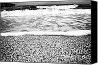 Beach Scenery Canvas Prints - Approaching wave - black and white Canvas Print by Hideaki Sakurai