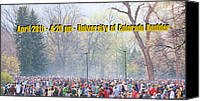 Editorial Canvas Prints - April 20th - University of Colorado Boulder Canvas Print by James Bo Insogna