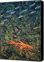 Abstraction Canvas Prints - Aquarium 2 Canvas Print by James W Johnson
