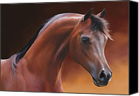 Airbrush Art Digital Art Canvas Prints - Arabia Canvas Print by Michael Montgomerie