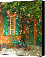 Potted Plants Painting Canvas Prints - Arbour Canvas Print by William Ireland