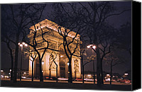 Roundabout Canvas Prints - ARC de TRIOMPHE - PARIS FRANCE Canvas Print by Daniel Hagerman