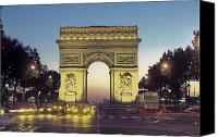 War Monuments And Shrines Canvas Prints - Arc De Triomphe And The  Champs-elysees Canvas Print by Richard Nowitz
