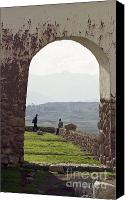 On-the-look-out Canvas Prints - Arch at Chincero Canvas Print by Darcy Michaelchuk