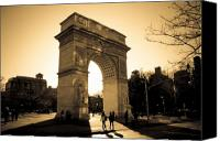 Washington Square Canvas Prints - Arch of Washington Canvas Print by Joshua Francia