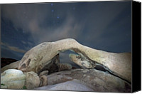 National Monument Canvas Prints - Arch Rock With Stars, Joshua Tree National Park Canvas Print by Daniel Osterkamp