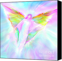 Angels Canvas Prints - Archangel Gabriel in Flight Canvas Print by Glenyss Bourne