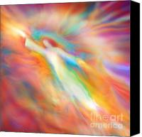 Angels Canvas Prints - Archangel Jophiel Illuminating the Ethers Canvas Print by Glenyss Bourne