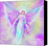 Angel Pictures Canvas Prints - Archangel Raphael in Flight Canvas Print by Glenyss Bourne