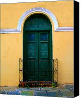 Screen Doors Photo Canvas Prints - Arched Doorway Canvas Print by Perry Webster