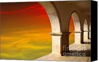 Ancient Canvas Prints - Arches at Sunset Canvas Print by Carlos Caetano
