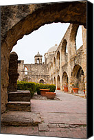San Antonio Canvas Prints - Arches of Mission San Jose Canvas Print by Iris Greenwell